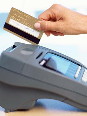 Credit Card swiping in machine